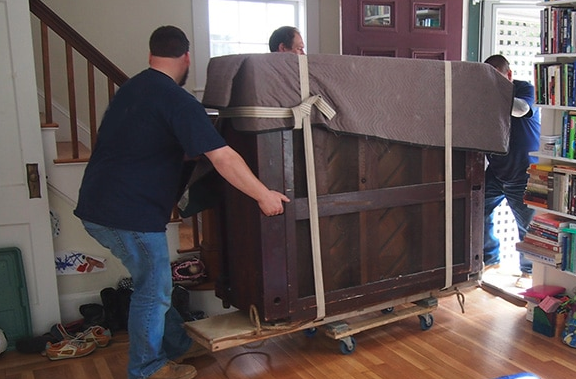 piano moving across house in Auckland